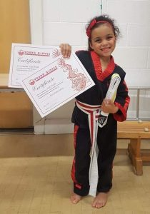 Young Gloves Karate Grading