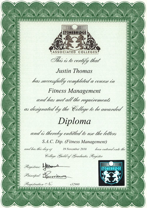 young gloves karate sensei justin thomas fitness diploma